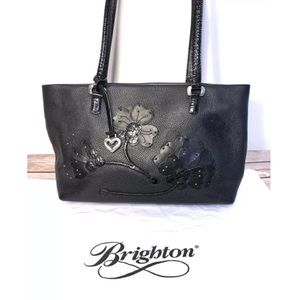 Brighton Floral Embossed Flowers Leather Purse